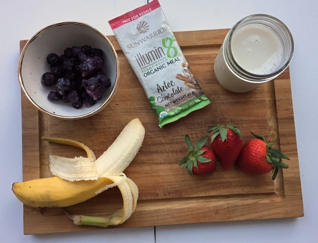 Ingredients for a Vegan Protein Smoothie Bowl