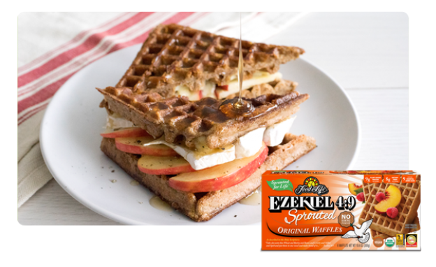 Brie and Apple Waffle Sandwich