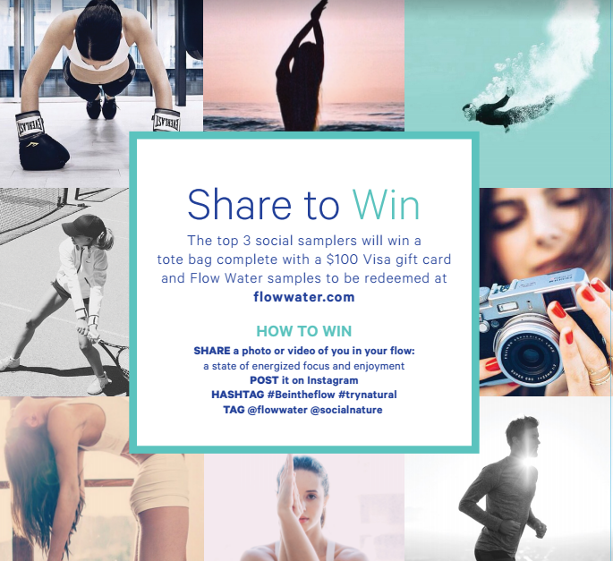 WIN a $100 Visa Gift Card & More: Share Your #beintheflow Moment