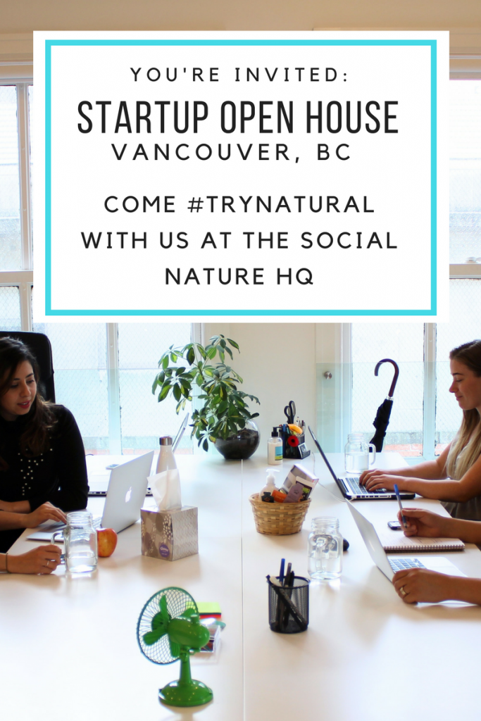 Meet us at Vancouver Startup Open House 2017 and #trynatural!