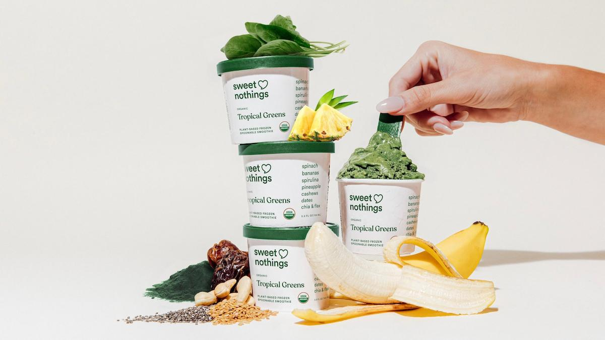 Sweet Nothings Tropical Greens cups with hand